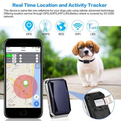 Брызгозащищенный ошейник с GPS-трекером (+ GSM, AGPS, LBS, WiFi)
